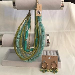 NWT Erica Lyons choker and earrings set
